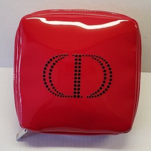 Christian Dior Red Patent Cosmetic Case
